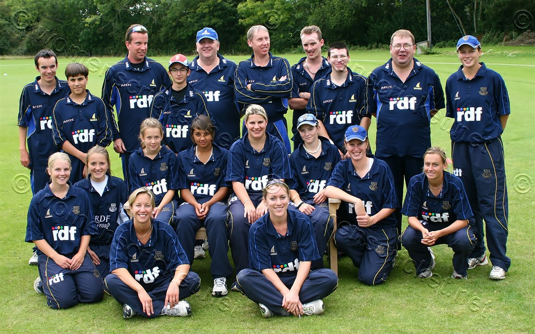 [Sussex Women's Team with the Sussex Visually Impaired XI] © Don Miles