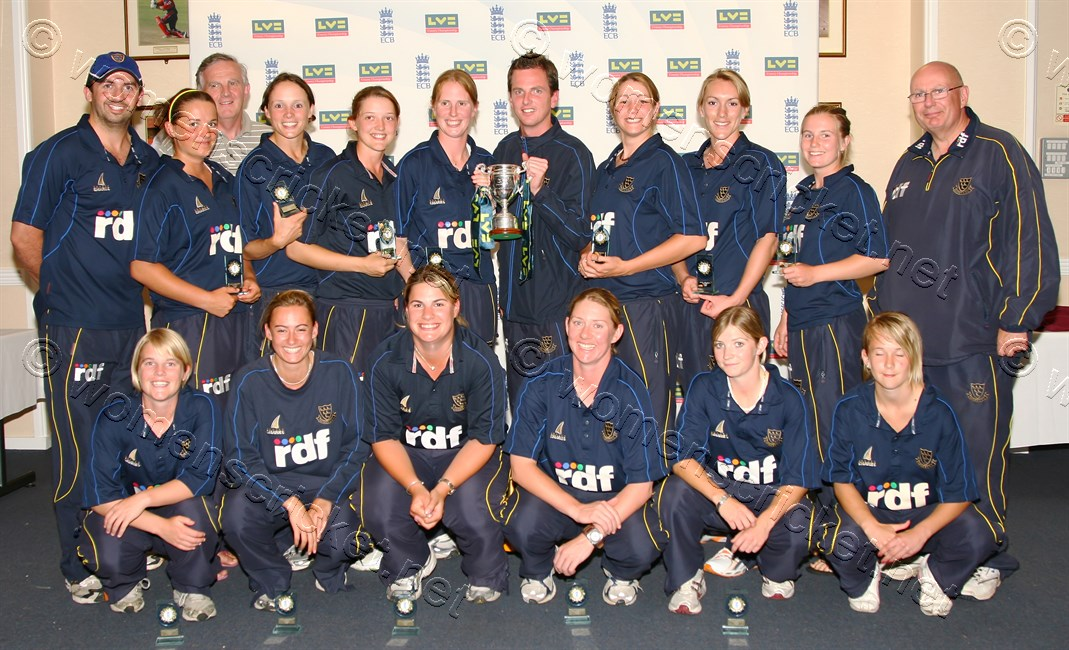 [Sussex Women's Team, County Champions 2008] © Don Miles